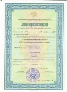 Лицензия июль 2013г
